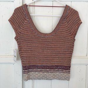 Free People Sleeveless striped sweater size small